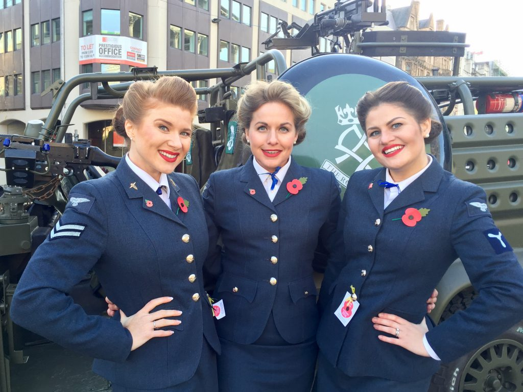 The D-Day Darlings at Birmingham Poppy Day 2016 for the Royal British Legion